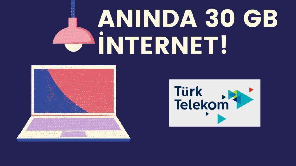aninda turk telekom bedava internet 1
