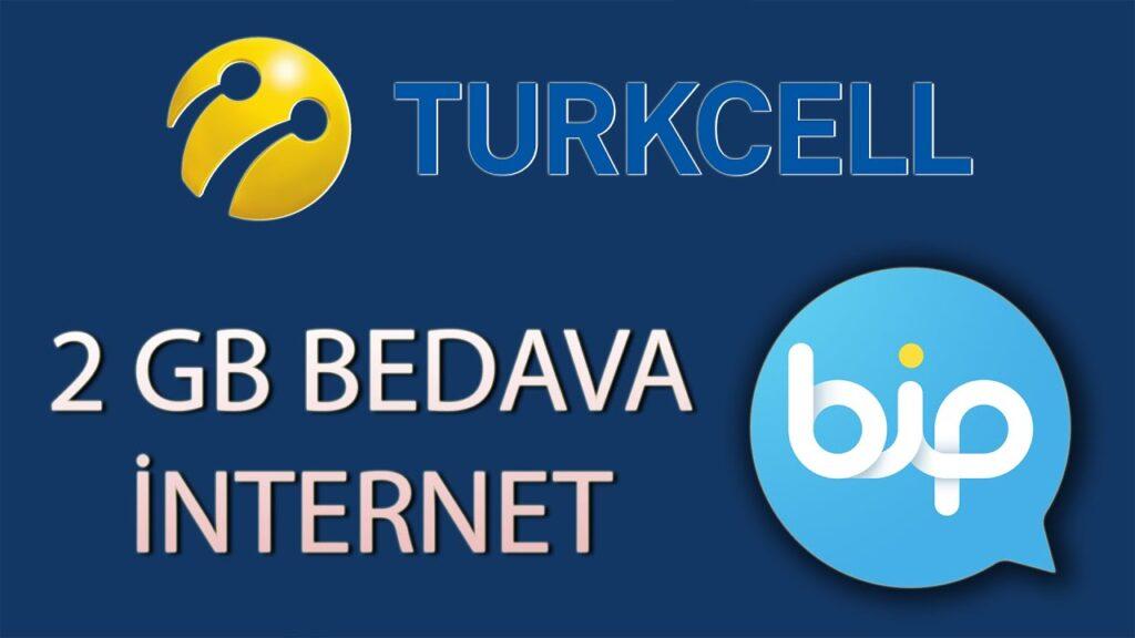 turkcell bip bedava internet 1